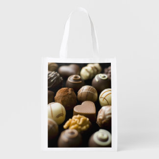 Delicious chocolate pralines grocery bag