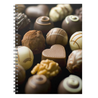 Delicious chocolate pralines notebooks