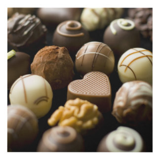 Delicious chocolate pralines panel wall art