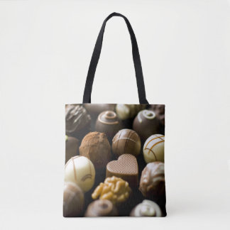 Delicious chocolate pralines tote bag