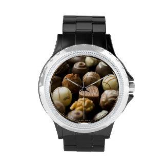 Delicious chocolate pralines wrist watches