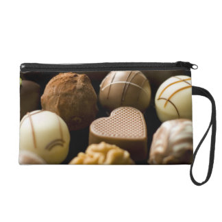 Delicious chocolate pralines wristlet purse
