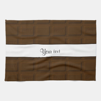 Delicious Chocolate Squares Kitchen Towel