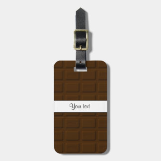 Delicious Chocolate Squares Luggage Tag