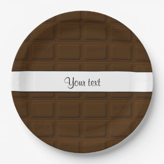 Delicious Chocolate Squares Paper Plate