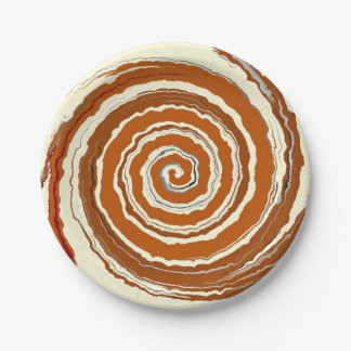 Delicious Cinnamon Swirl Paper Plate