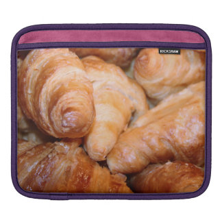Delicious classic french croissants photograph iPad sleeve