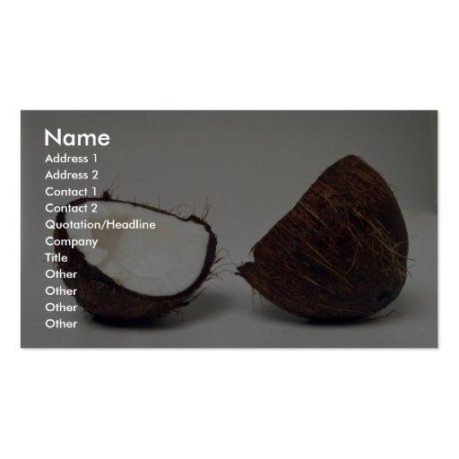 Delicious Coconut halves Business Card Template