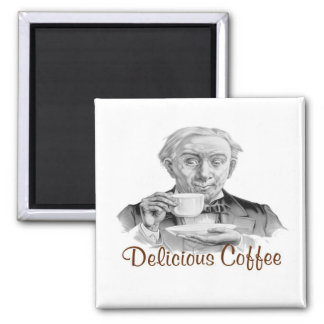 Delicious Coffee 2 Inch Square Magnet