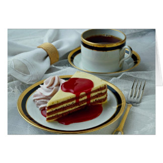 Delicious Coffee and baumkuchen torte Card