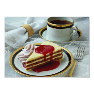 Delicious Coffee and baumkuchen torte Custom Announcement