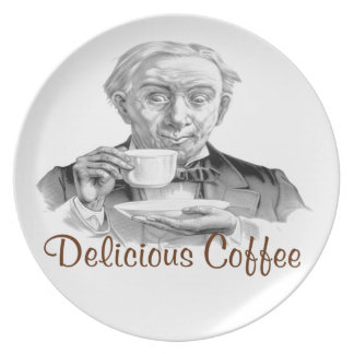 Delicious Coffee Dinner Plates