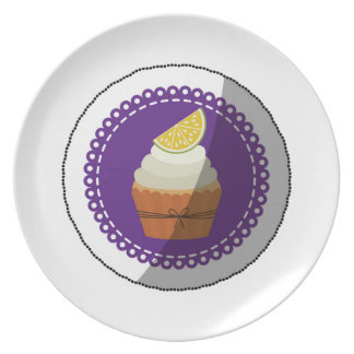 Delicious cup cake plate