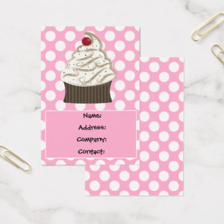 delicious cupcake business Cards