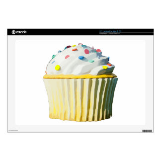 "Delicious Cupcake Decal For 17"" Laptop"