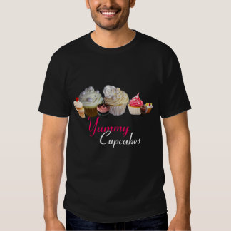 DELICIOUS CUPCAKES BIRTHDAY PARTY ,red pink black T Shirt
