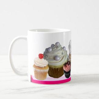 DELICIOUS CUPCAKES DESERT SHOP,Pink ,Fuchsia,White Coffee Mug