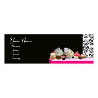 DELICIOUS CUPCAKES DESERT SHOP Pink Purple Violet Business Card