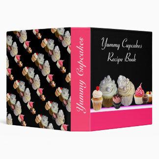 DELICIOUS CUPCAKES DESERT SHOP RECIPE BOOK 3 RING BINDER
