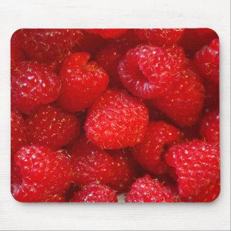 Delicious cute dark pink raspberry photograph mouse pad