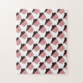 Delicious Cute Pink Chocolate Frosting Cupcake Puzzle
