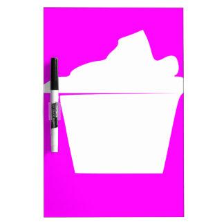 Delicious Cute Pink Cupcake Dry Erase Board