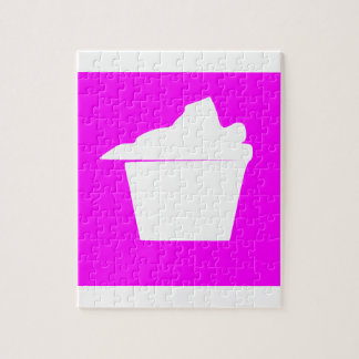 Delicious Cute Pink Cupcake Jigsaw Puzzle