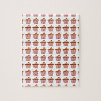 Delicious Cute Pink Cupcake With Chocolate Frostin Jigsaw Puzzle