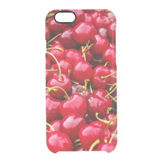 delicious cute red cherry fruits photograph clear iPhone 6/6S case
