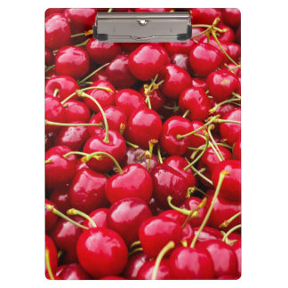 delicious cute red cherry fruits photograph clipboard