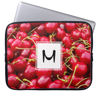delicious cute red cherry fruits photograph laptop sleeve