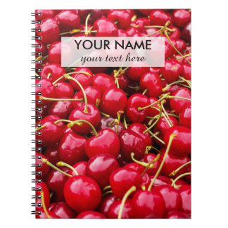 delicious cute red cherry fruits photograph notebook