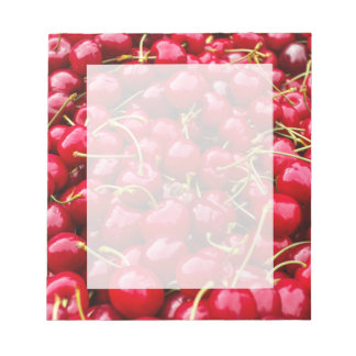 delicious cute red cherry fruits photograph notepad