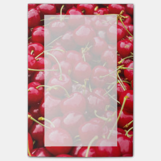 delicious cute red cherry fruits photograph post-it notes