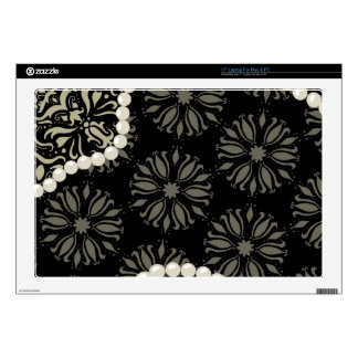 "Delicious damask decals for 17"" laptops"