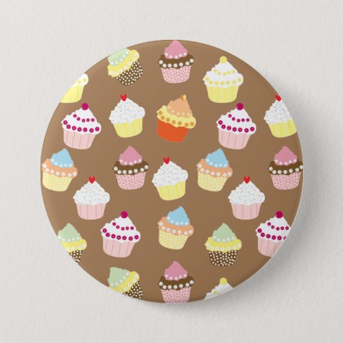 Delicious Decorated Birthday Cupcakes Button