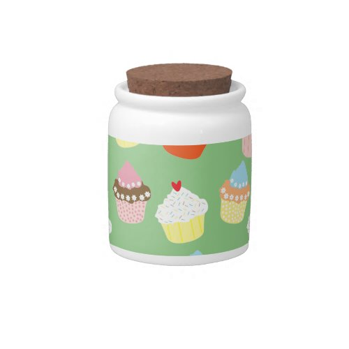 Delicious Decorated Birthday Cupcakes Candy Jar