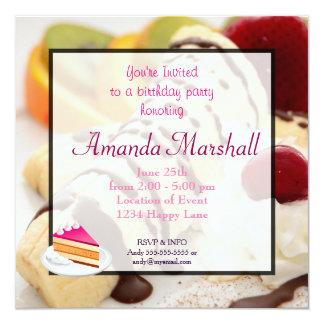 Delicious Dessert Birthday Party Card
