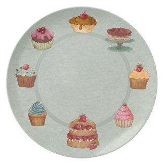 Delicious Desserts Melamine Plate
