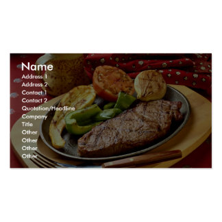 Delicious Deviled beef steak Double-Sided Standard Business Cards (Pack Of 100)