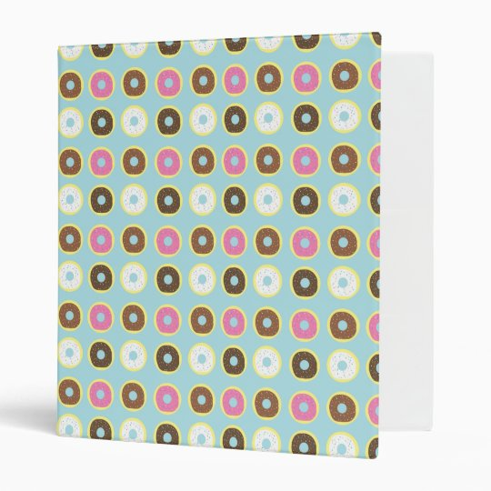 Delicious Donuts 3 Ring Binder