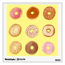 Delicious Donuts Illustration Wall Decal