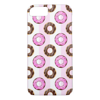 Delicious Donuts Pink Stripes iPhone 7 Case