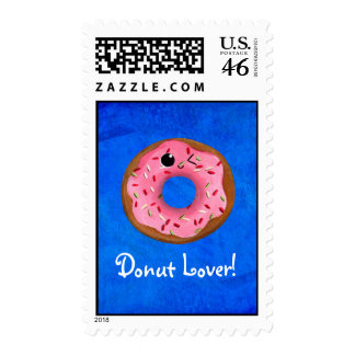 Delicious Donuts Postage Stamp