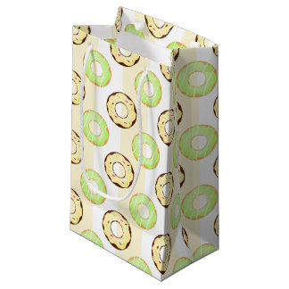 Delicious Donuts Yellow Stripes Pattern Gift Bag