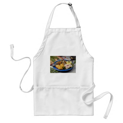 Delicious Fish dinner Adult Apron