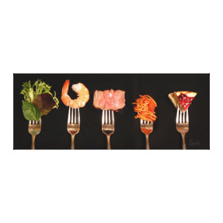 Delicious Food and Forks Canvas Print Canvas Print