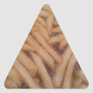 Delicious French Fries Triangle Sticker