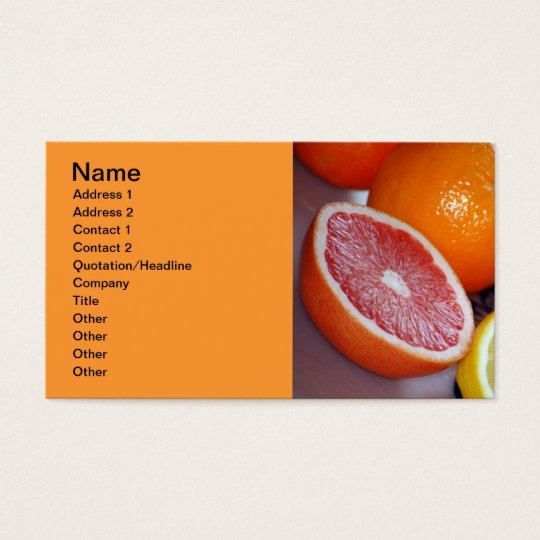 Delicious-fresh-fruits865 COLORFUL CITRUS FRUITS O Business Card