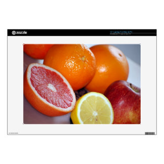"Delicious-fresh-fruits865 COLORFUL CITRUS FRUITS O 15"" Laptop Skin"